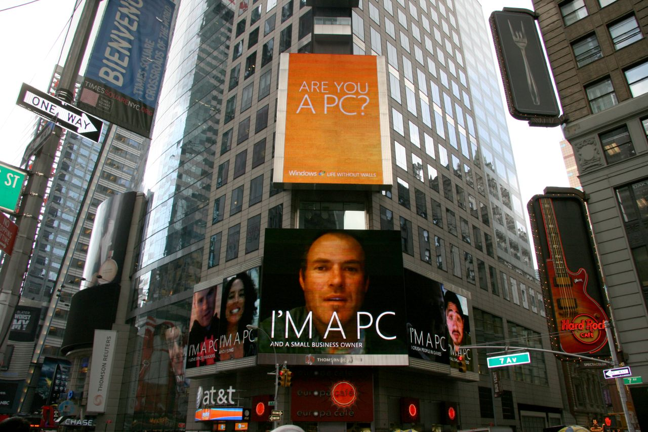 Im a pc times square