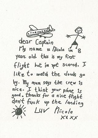 Plane letter innocent