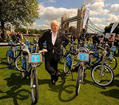 Boris barclays bikes