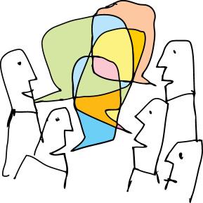 Conversation cartoon